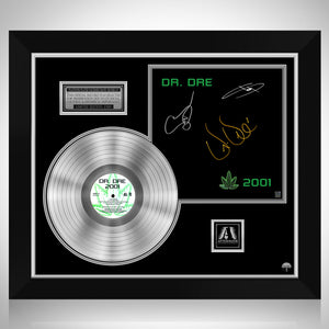 Dr. Dre - 2001 Platinum LP Limited Signature Edition Studio Licensed Custom Frame