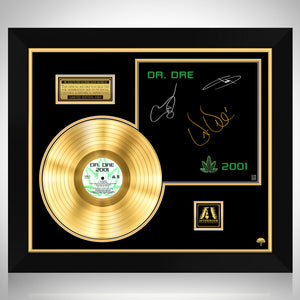 Dr. Dre - 2001 Gold LP Limited Signature Edition Studio Licensed Custom Frame