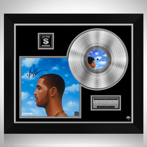 Drake - Nothing Was The Same Platinum LP Limited Signature Edition Studio Licensed Custom Frame