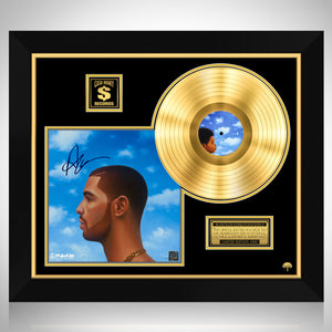 Nothing Was The Same Gold LP Limited Signature Edition Studio Licensed Custom Frame