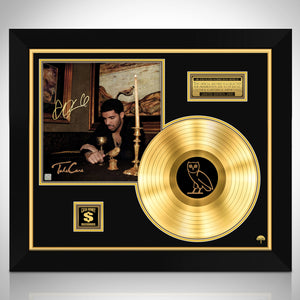 Drake Take Care Gold LP Limited Signature Edition Studio Licensed Custom Frame
