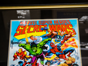RARE-T Exclusive 'MARVEL SECRET WARS SIGNED ZECK ART PRINT' Custom Frame