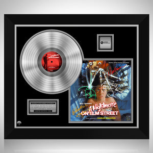 A Nightmare on Elm Street - Soundtrack Platinum LP Limited Signature Edition Studio Licensed Custom Frame