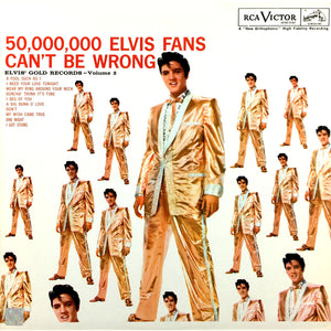 Elvis Presley - 50,000,000 Fans Can't be Wrong Limited Edition Studio Licensed Gold LP Custom Frame