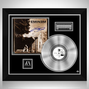 Eminem Marshall Mathers by Limited Signature Edition Studio Licensed Platinum LP Custom Frame