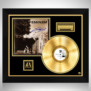 Eminem Marshall Mathers by Limited Signature Edition Studio Licensed Gold LP Custom Frame