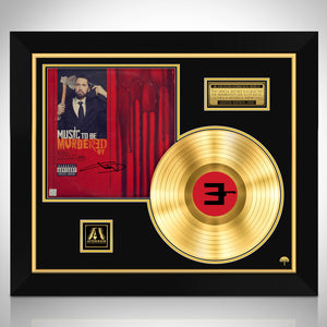 Eminem Music to be Murdered Gold LP Limited Signature Edition Studio Licensed Custom Frame