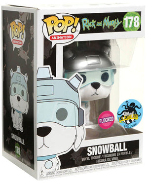 RICK & MORTY SNOWBALL FLOCKED LACC 2017 Exclusive Pop