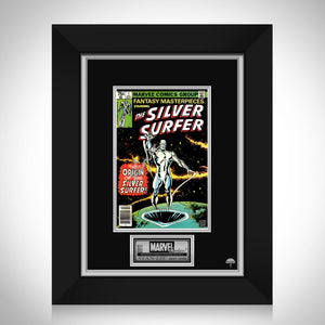 The Silver Surfer #1 - Stan Lee Limited Signature Edition Licensed Comic Book Cover Art Custom Frame