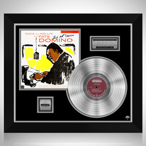 Fats Domino - Rock and Rollin' with Fats Domino Platinum LP Limited Signature Edition Studio Licensed Custom Frame