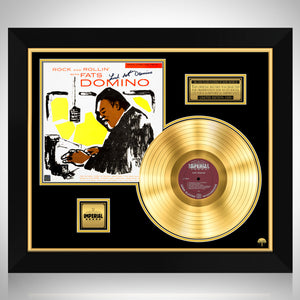 Fats Domino - Rock and Rollin' with Fats Domino Gold LP Limited Signature Edition Studio Licensed Custom Frame