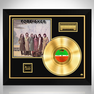 Foreigner Limited Signature Edition Studio Licensed Gold LP Custom Frame