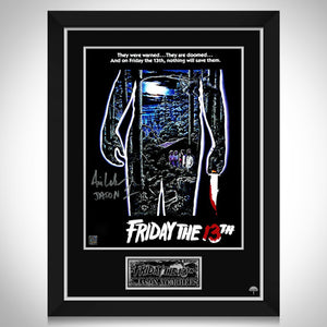 Friday The 13th Limited Signature Edition Studio Licensed Movie Mini Poster Custom Frame
