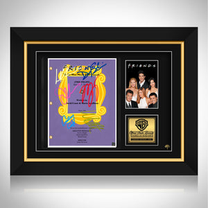 Friends TV Show Purple Script Limited Signature Edition Studio Licensed Custom Frame