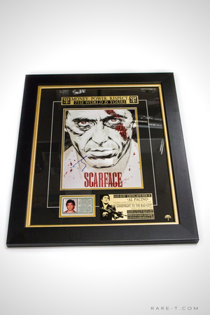 Scarface poster with green card Al Pacino hand signed photo gallery frame