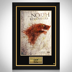 Game Of Thrones The North Remembers Limited Signature Edition Studio Licensed Movie Mini Poster Custom Frame