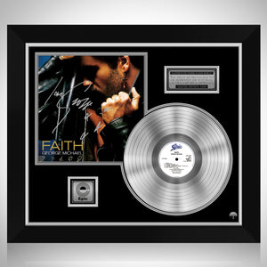 George Michael - Faith Platinum LP Limited Signature Edition Studio Licensed Custom Frame