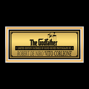 The Godfather - Young Vito Corleone Photo Limited Signature Edition Studio Licensed Custom Frame