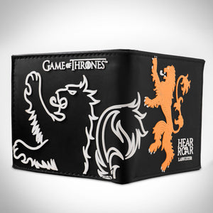 "Game of Thrones - Lion Crest ""Hear me Roar"" House Lannister Embossed Wallet"