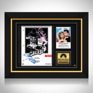 Grease- Limited Collector's Edition Studio Licensed and Numbered Script Custom Frame