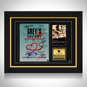 Grey's Anatomy Script Limited Signature Edition Studio Licensed Custom Frame