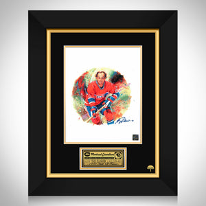Montreal Canadiens - Guy Lafleur Limited Signature Edition Studio Licensed Mini Poster Custom Frame
