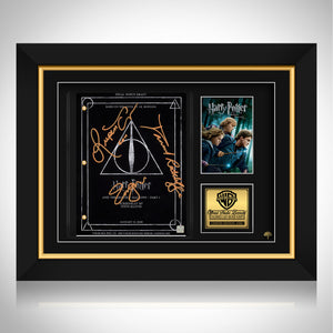 Harry Potter- Deathly Hallows Part 1 Movie Script Limited Signature Edition Studio Licensed Custom Frame