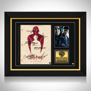 Harry Potter and The Half Blood Prince Script Limited Signature Edition Studio Licensed Custom Frame