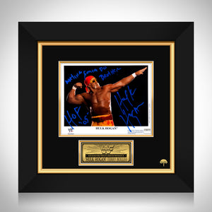 Hulk Hogan- WWE Hand-Signed Photo Of Hulk In His Famous Pose By Hulk Hogan Custom Frame