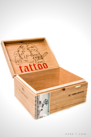 Handmade 'TATTOO' Wooden Cigar Box
