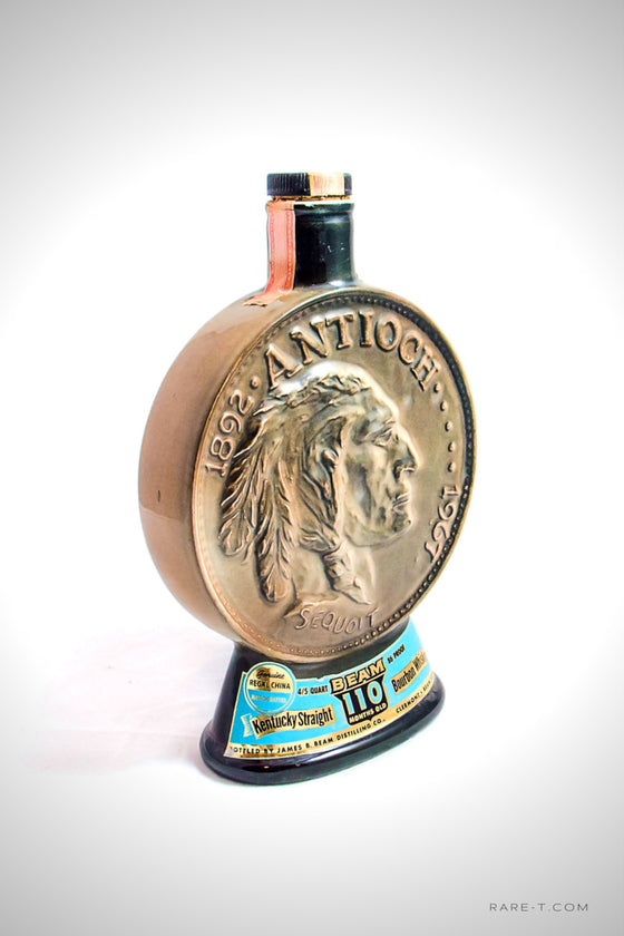 Limited Edition 1967 JIM BEAN - Indian Head Antioch/Sequoit-Diamond Jubilee Decanter | RARE-T