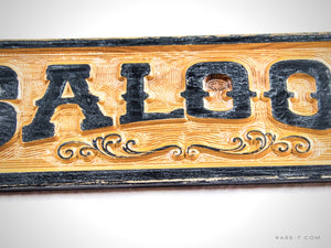 Distressed Wooden 'Wild West Style SALOON' Bar/Tavern/Pub Sign | RARE-T