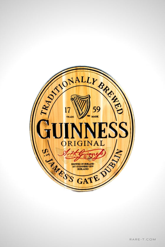 1759 GUINNESS ORIGINAL - Carved Wood Dublin Ireland Bar/Pub Sign | RARE-T