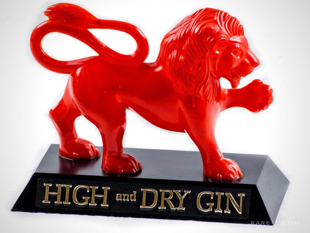 Vintage Plastic 'BOOTH'S- RED LION' Gin Bar-Back Display/Advertisement | RARE-T