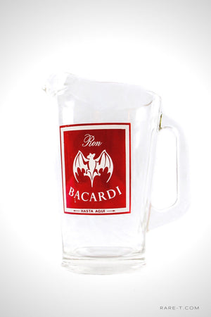 Vintage Ron Bacardi Glass Pitcher