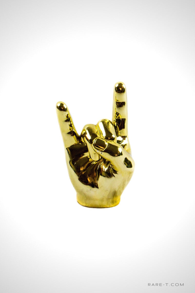 Handcrafted 24K 'I WANNA ROCK' Statue | RARE-T