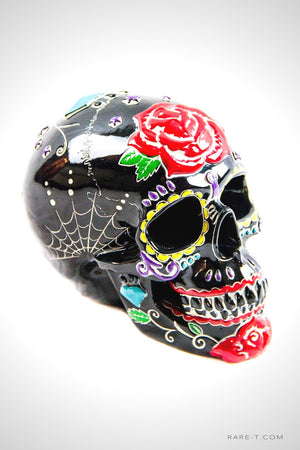 TATTOO FLASH/DAY OF THE DEAD HUMAN SKULL' Piggy Bank/Statue | RARE-T