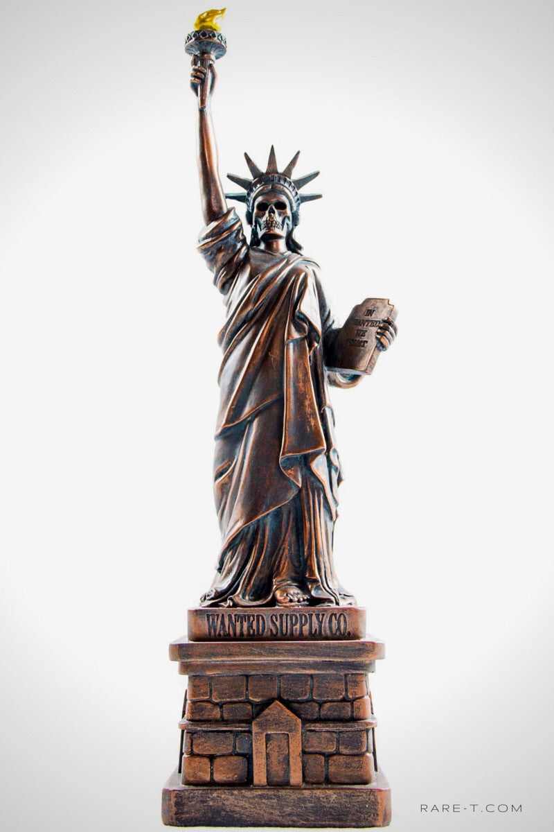 Handcrafted 'LIBERTY IS DEAD' Statue Piggy Bank | RARE-T