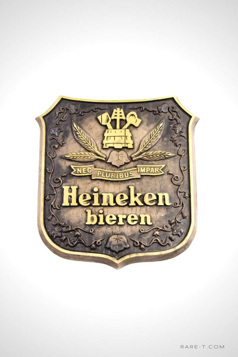 Original Vintage Pressed Foam 'HEINEKEN -AMSTERDAM BIEREN' Beer Display/Advertisement | RARE-T