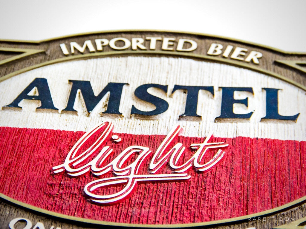 Original Vintage Pressed Foam 'AMSTEL LIGHT-IMPORTED BIER' Beer Display/Advertisement | RARE-T