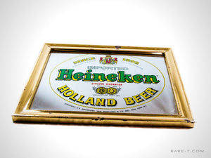 Original Vintage HEINEKEN Amsterdam/Holland Beer Bar Birror/Advertisement | RARE-T