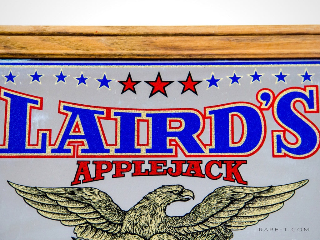Vintage REVERSE PAINTED '1780-1980 LAIRD'S APPLEJACK' BICENTENNIAL Bar Mirror/Advertisement | RARE-T