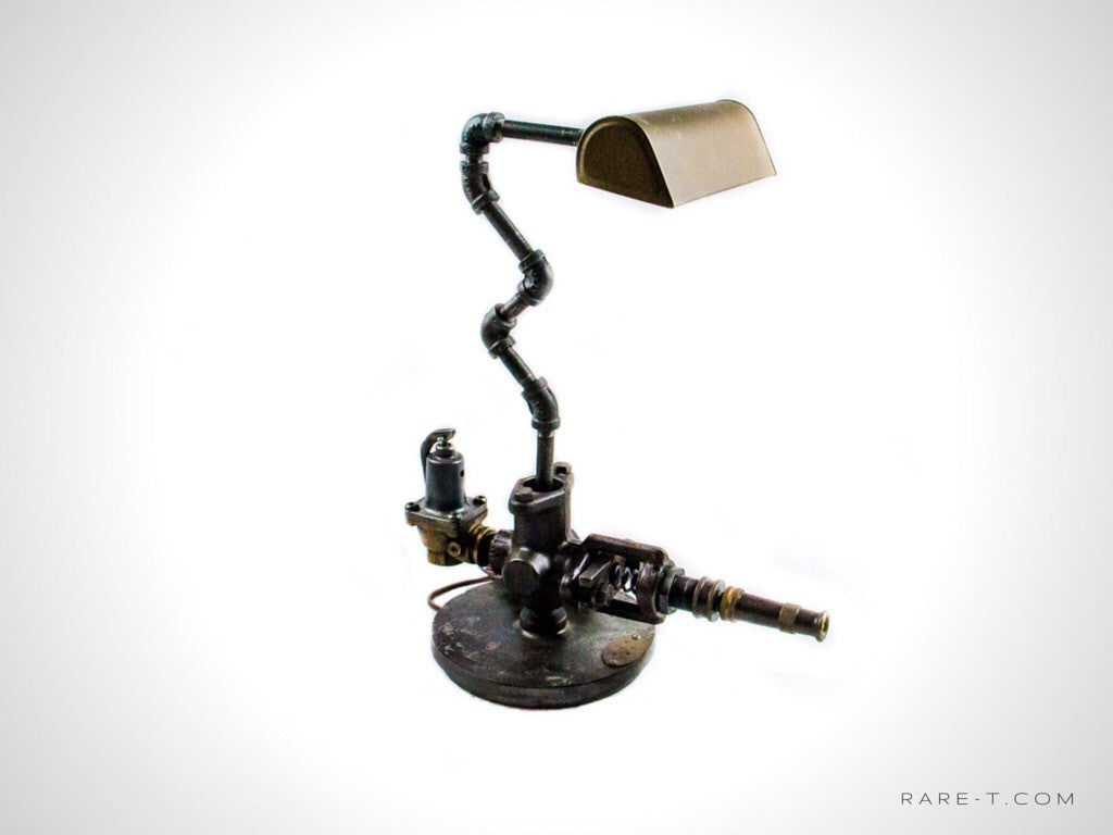 Handmade Large 'STEAMPUNK-INDUSTRIAL ART' Lamp  | RARE-T