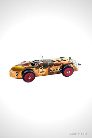 Handmade 'SKULL & CROSSBONES 1920-30's RACE CAR' Folk Art | RARE-T