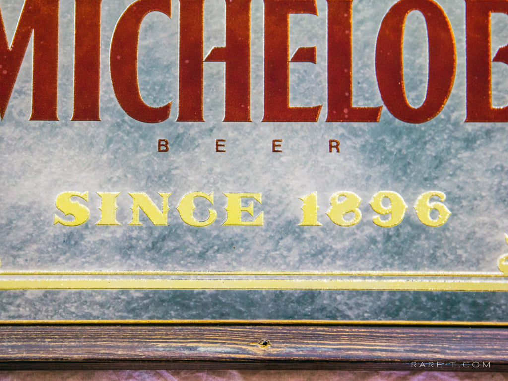 Original Vintage REVERSE PAINTED 'MICHELOB-BEER' Bar Mirror/Advertisement | RARE-T