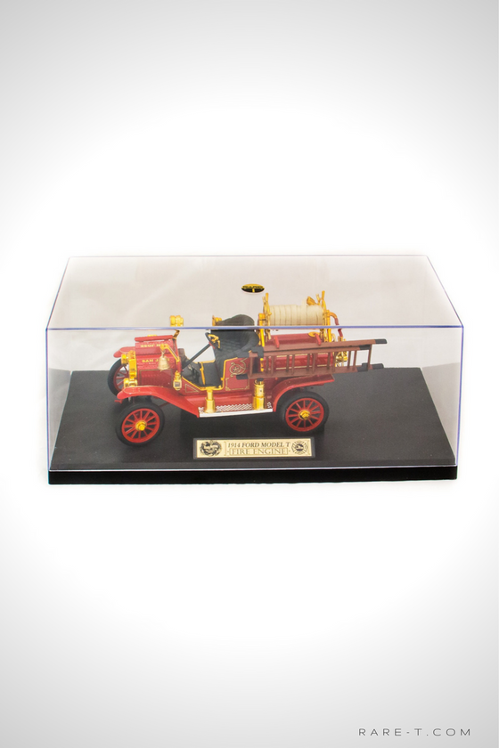 Exclusive Elite Edition '1914 FORD MODEL T-FIRE ENGINE' Die-Cast Car Display Set