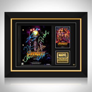 Avengers Infinity War Movie Script Limited Signature Edition Studio Licensed Custom Frame