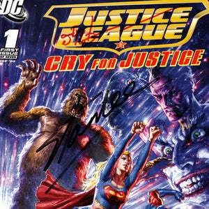 Justice League Cry For Justice (2009) #1 Hand-Signed Comic By James Robinson & Stan Lee Custom Frame