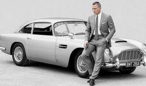 James Bond - Goldfinger / No Time to Die 1964 Aston Martin DB5 Die-Cast Car Custom Museum Display