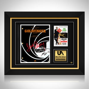 James Bond Goldfinger Script Limited Signature Edition Studio Licensed Custom Frame